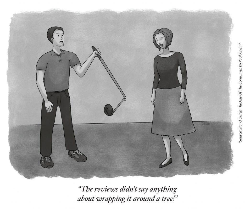 Broken Golf Club Cartoon Illustration Meme